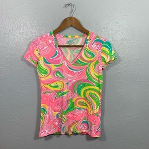 Lilly Pulitzer Flamingo Michelle Top Size XXS